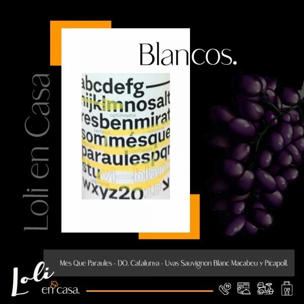 Mes Que Paraules - Do. Catalunya - Uvas Sauvignon Blanc, Macabeu y Picapoll