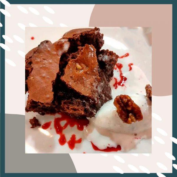 Momento Dulce. Brownie de chocolate negro y nueces