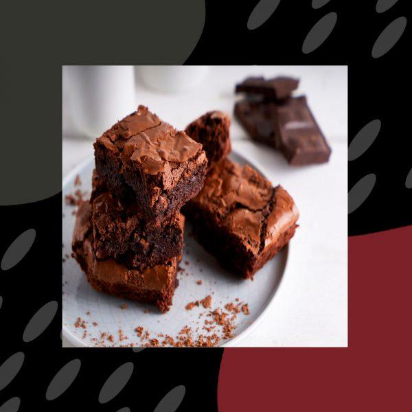 Brownie (Chocolate, harina, leche de soja, avena, azúcar, vainilla y aceite de girasol)